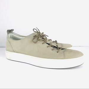 ECCO Size 12 Light Gray Suede Sneakers